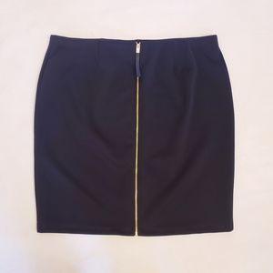 Vince Camuto Black Pencil Skirt w/ Gold Zipper 3X
